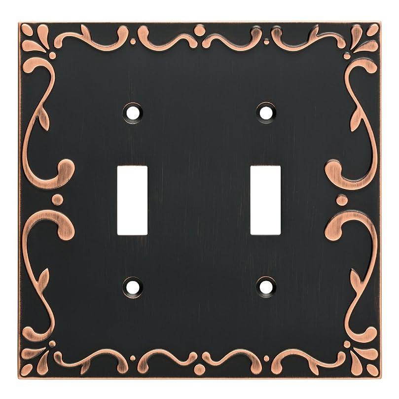 ペチュランス挨拶する上に築きますFranklin真鍮クラシックレースダブルスイッチ壁スイッチプレート/プレート/カバー ゴールド W35073-VBC-C 1
