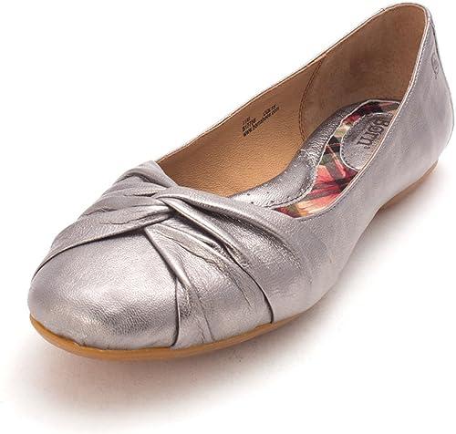 B.O.C Femmes Chaussures Plates Couleur Métallique argent Taille 38 EU   7 Us