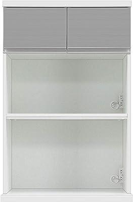 共和産業(Kyowa-sangyo) 食器棚 シルバー 【幅75×高さ115.5cm】