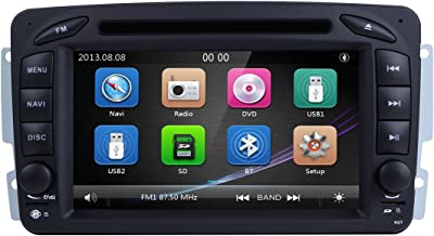 Coche GPS DVD USB SD Bluetooth Autoradio 2 DIN NAVI para Mercedes-Benz A-W168 C-W203 Viano G-W463 Vito Vaneo CLK-C209/W209