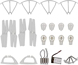 AVAWO MJX X400 X400W X401H Quadcopter Spare Parts Crash Pack Kit Replacement, Main Blade Propellers & Motor & Propeller Protectors Blades Frame & Landing Skid & Battery & Main Gears Set & Motor Base