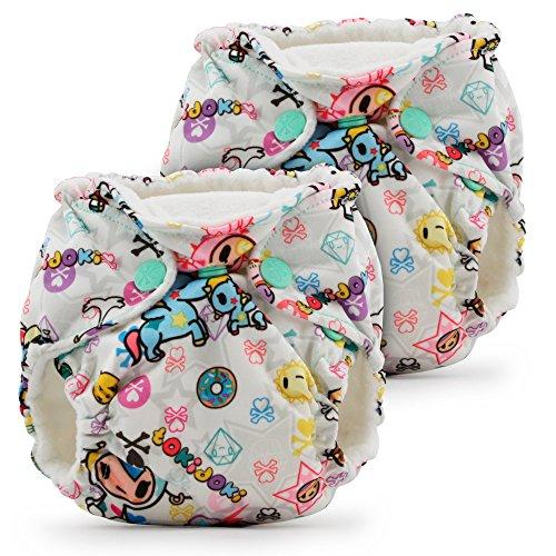 Kanga Care Lil Joey AIO - Pañales de tela para recién nacidos (2 unidades)