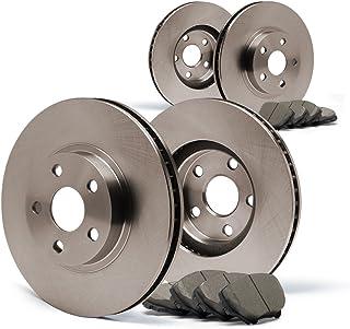 KT071202 Fits: 2011 11 2012 12 Jeep Compass w/ 302mm Diameter Rear Disc Rotors E-Coated OE Rotors + Ceramic Pads Max Brakes Rear Elite Brake Kit