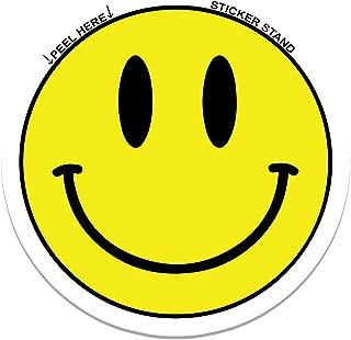Smiley Face car bumper sticker decal 4