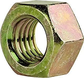 27//32 Thick 1-1//2-6 Thread Size 2-1//4 Width Across Flats 18-8 Stainless Steel Hex Jam Nut Plain Finish ASME B18.2.2