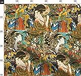 Vintage, Asiatisch, Collage, Mode, Handwerk, Bunt Stoffe -