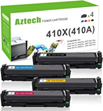 Aztech Compatible Toner Cartridge Replacement for HP 410X CF410X 410A CF410A CF411X CF412X CF413X (Black Cyan Yellow Magenta,4-Pack)