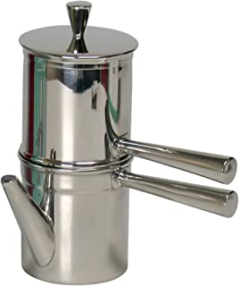 Ilsa Stainless Steel Neapolitan Drip Coffee Maker with Spout, 1-2 cup