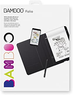 """Rocketbook Wave Smart Notebook - Dotted Grid Eco-Friendly Notebook with 1 Pilot Frixion Pen Included - Standard Size (8.5"""" x 9.5""""), BLUE (WAV-S) Wacom Bamboo Folio Smartpad Digital Notebook Rocketbook Smart Reusable Notebook - Dot-Grid Eco-Friendly Notebook with 1 Pilot Frixion Pen & 1 Microfiber Cloth Included - Infinity Black Cover, Executive Size (6"""" x 8.8"""") Wacom Bamboo Folio Smartpad Digital Notebook, Small (A5/Half Letter Size), CDS610G"""