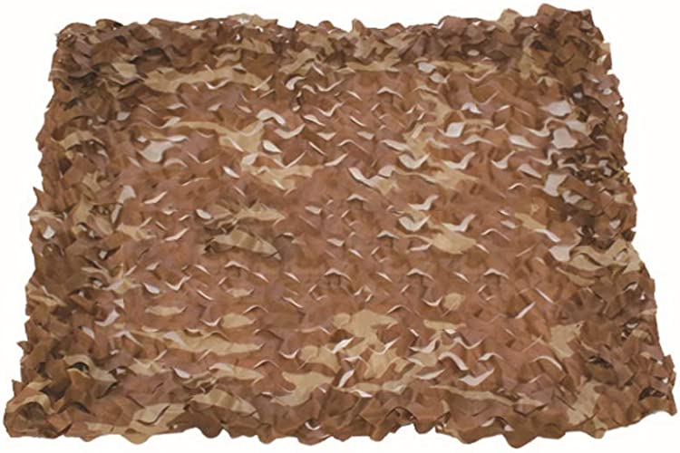 WFwznet Abri De Camp De Décoration De Filet De Camouflage, Léger Et Durable à l'ombre, Fournitures Cachées De Jeu De Tir pour Les passionnés Militaires (Couleur   Desert Camouflage, Taille   8x12m)