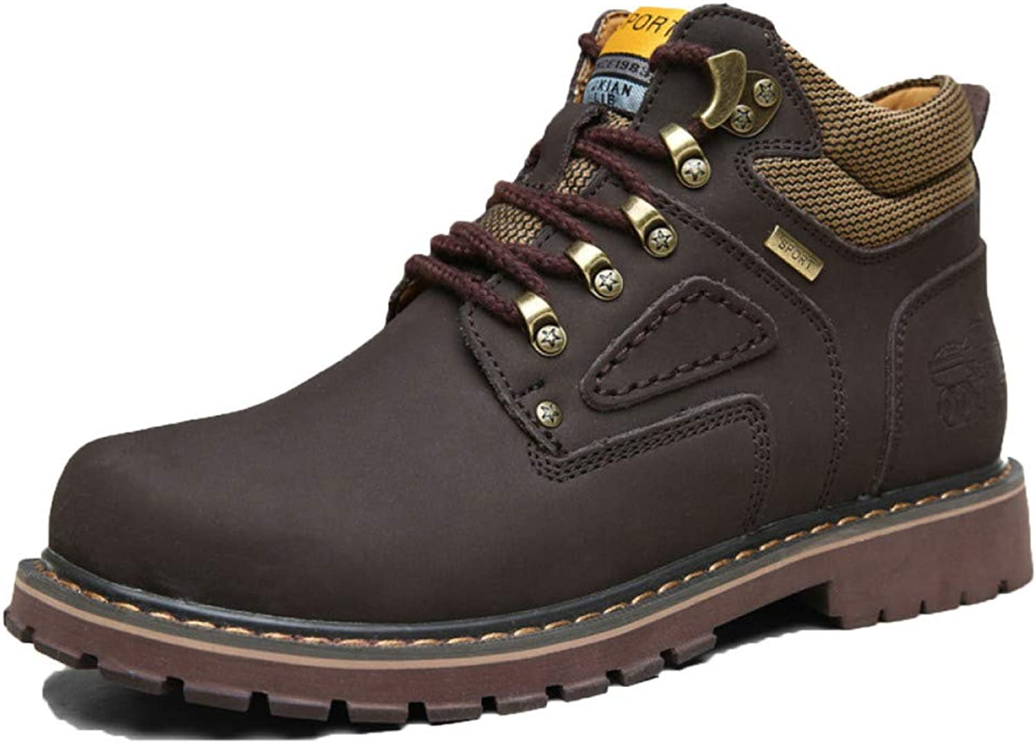 Snfgoij Work Boots Mens Waterproof Trainers shoes Autumn High Boots Ankle Boots Martin Boots Military Boots