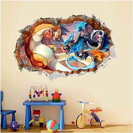 Pokemon Charizard 3D Torn Hole Wall Sticker Decal Home Decor Art Mural WT123