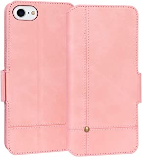 """FYY Case for iPhone SE 2020, iPhone 7/8 4.7"""", Ultra Slim PU Leather Wallet Case Protective Cover with Card Holders Kicksta..."""