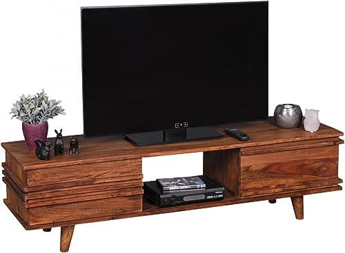 Lowboard KADA Massivholz Sheesham Kommode 145cm TV-Board Ablage-Fach Landhaus-Stil Unterschrank 41 cm TV-M l