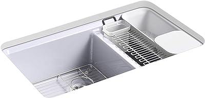 Kohler K-8669-5UA3-GRL Riverby Kitchen Sink, LavenderGrey