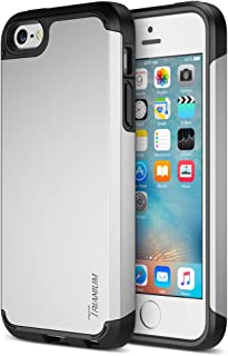 iPhone SE Case, Trianium [Protak Series] Ultra Protective Cases for Apple iPhone SE (2016) & iPhone 5S 5 [Silver] Dual Layer + Shock-Absorbing Hard Bumper Cover