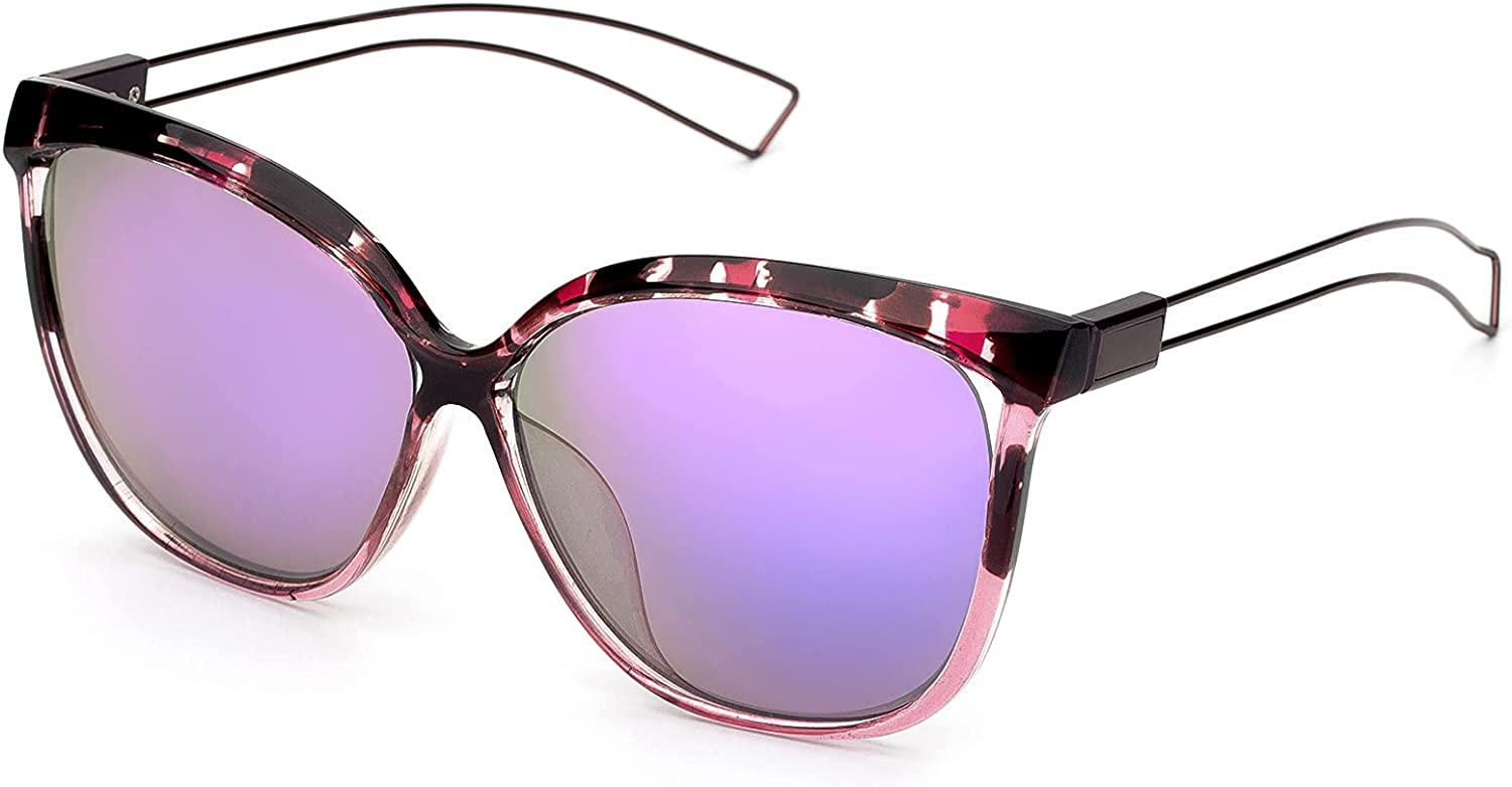 Sunglasses for OFFicial Ranking TOP17 shop Women Oversized Cat Style UV400 Protection Eye