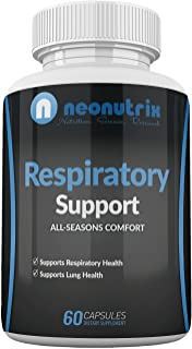 Lung Detox Cleanse Supplement for Bronchial Wellness & Natural Respiratory Support for Cigarette Smokers – Vegetarian Friendly Nasal Decongestant- 60 Capsules - Made USA by Neonutrix- Non-GMO