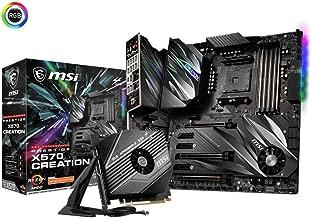 MSI Prestige X570 Creation Motherboard (AMD AM4, DDR4, PCIe 4.0, SATA 6Gb/s, M.2, USB 3.2, AX Wi-Fi 6, 10G Super LAN, Extended-ATX)