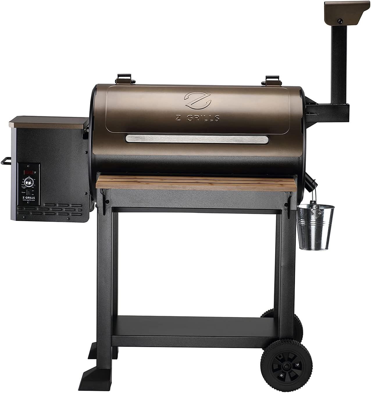 Z GRILLS 2021 Upgrade Elegant Challenge the lowest price Wood Pellet Smoker Grills 55 8-in-1 Grill