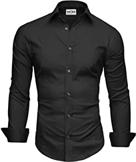 Men's Dress Shirt Flim Fit - Long Sleeve Basic - Breathable