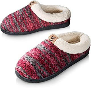 Pupeez Girls Knitted Fleece Lined Clog Slippers