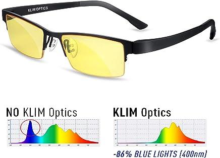 KLIM™ Optics Lunettes Anti Lumiere Bleue 2019 - Protègent Vos Yeux de la Lumière Bleue - Haute Protection pour Écrans - Lunettes Gaming PC Mobile TV - Filtre Anti Fatigue Anti UV Anti Lumière Bleue