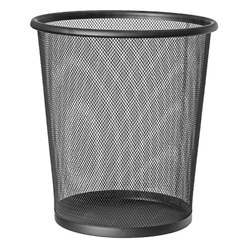Artmoon Mesh | 699768 | Papierkorb Mesh, Mülleimer Schwarz Büro | Stahl, Schwarz | 12 L Kapazität | Ø26.5x29.5 cm