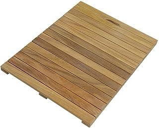 Antiscivolo Legno Naturale per Doccia /& Vasca 40x65 cm Resistente all/'umidit/à Igienico Relaxdays Tappeto in bamb/ù 3 x 65 x 40 cm
