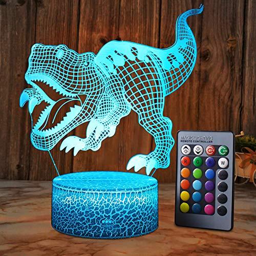 XEUYUTR Dinosaur Gifts Toys Night Light Party Decoración Lámparas Navidad Regalo de cumpleaños para niños Edad 5 4 3 1 6 2 7 8 9 10 11 años Niños