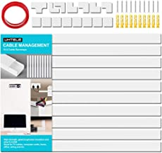 White Cable Wall Cover Raceway Kit - 150 inch Large Paintable On-Wall Cable Channel Cord Concealer Kit to Hide and Conceal Cables, Wires for Wall Mounted Tvs in Home Office- 10X L15in W1.18in H0.59in