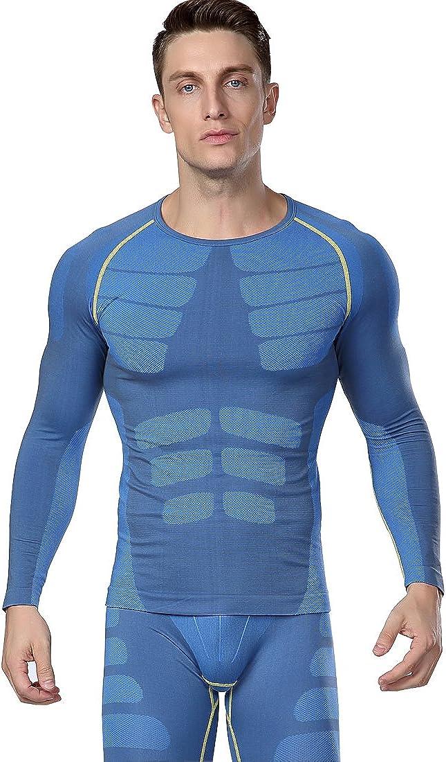 Glield Men's Body Shaper Compression T-Shirt + Sport Leggings Base Layer SW10