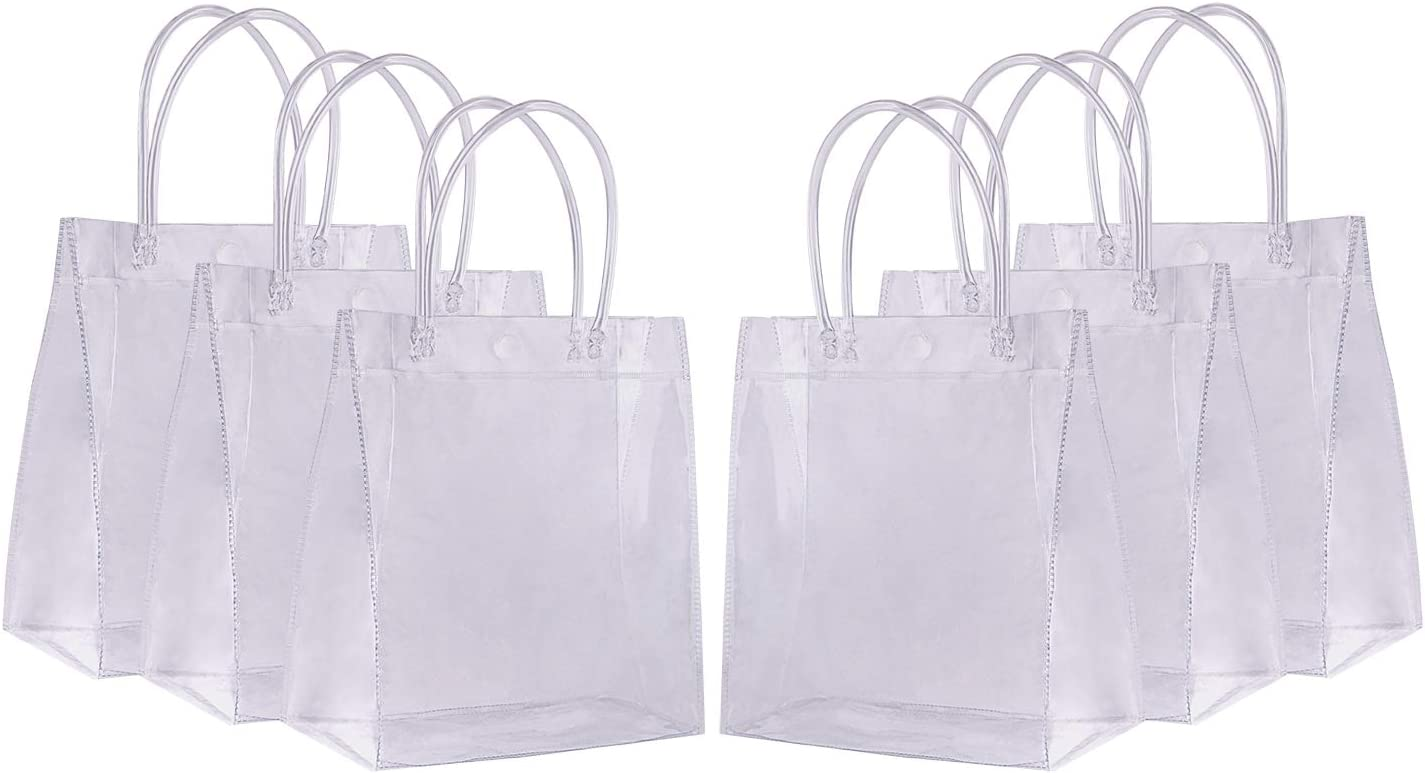 Clear Plastic Gift Bags with Pack Sdootjewelry 36 latest Heavy Under blast sales Handles