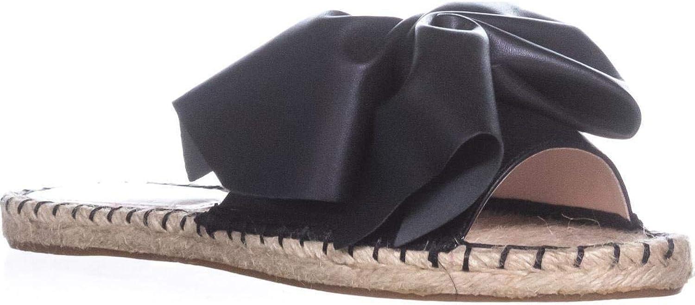 Avec Les Filles Womens Gemma Open Toe Casual Slide Sandals, Black, Size 5.5