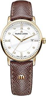 Maurice Lacroix - Reloj Analógico para Mujer de Cuarzo con Correa en Cuero EL1094-PVP01-150-1