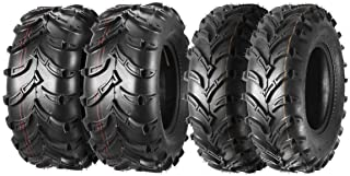 MaxAuto Full Set of 4 ATV/UTV Tires 25x8-12 25x8x12 Front & 25x10-12 25x10x12 Rear 6PR Mud
