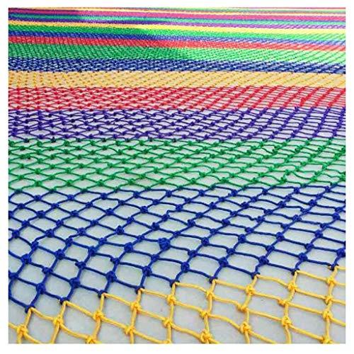 Kinderveiligheidsnet kinderveiligheidsnet, tuindecoratienet kleur touwnet trap beschermingsnet heknet web klimmen hangmat schommelnet 2m3m5m6m (grootte: 2 * 5M (7 * 16ft))