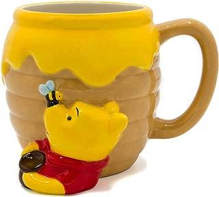 Silver Buffalo WTP3063D Winnie the Pooh Honey Pot Ceramic 3D Sculpted Mug, 23-ounces, Brown
