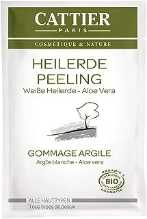 Cattier Helende aarde peeling, met witte helende aarde en aloë vera, natuurlijke cosmetica, 4 x 13 ml