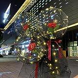 Kobay Luftballon LED Leuchtend Ballons,Rose Strauß Bedecktes Garn Luftballons,Romantisches Geschenk für Freundin und Ehefrau,Heiratsantrag, Valentinstag Deko,Weihnachtsdeko