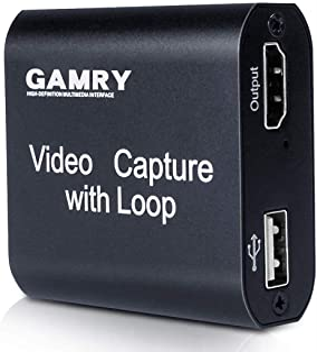 Tarjeta de Captura de Vídeo HDMI con Loop Out, 4K HD 1080P USB 2.0 para Transmisión en Vivo de Transmisión de Vídeo para J...