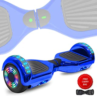 TechClic Electric Hoverboard Self-Balancing 6.5 Inch Wheel Built in Speaker LED Headlight UL Certified