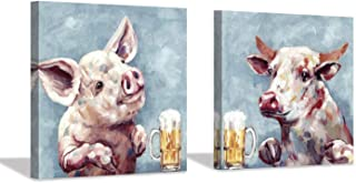 pig pictures on canvas
