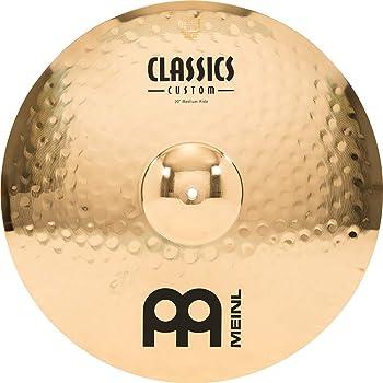 """Meinl 20"""" Medium Ride Cymbal - Classics Custom Brilliant - Made in Germany, 2-YEAR WARRANTY (CC20MR-B)"""