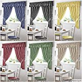 Gingham Kitchen Curtains Yellow 46 x 48