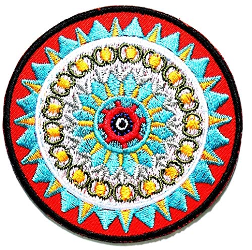 Nipitshop Patches Beautiful Lotus Buddhist Trance aum om Yoga Retro Boho Hippie Patch Embroidered DIY Patches Cute Applique Sew Iron on Kids Craft Patch for Bags Jackets Jeans Clothes (Buddha1)