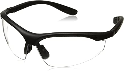 Radians BG1-10 Barricade Lightweight Clear Lens Compact Goggle with Adjustable Elastic Strap