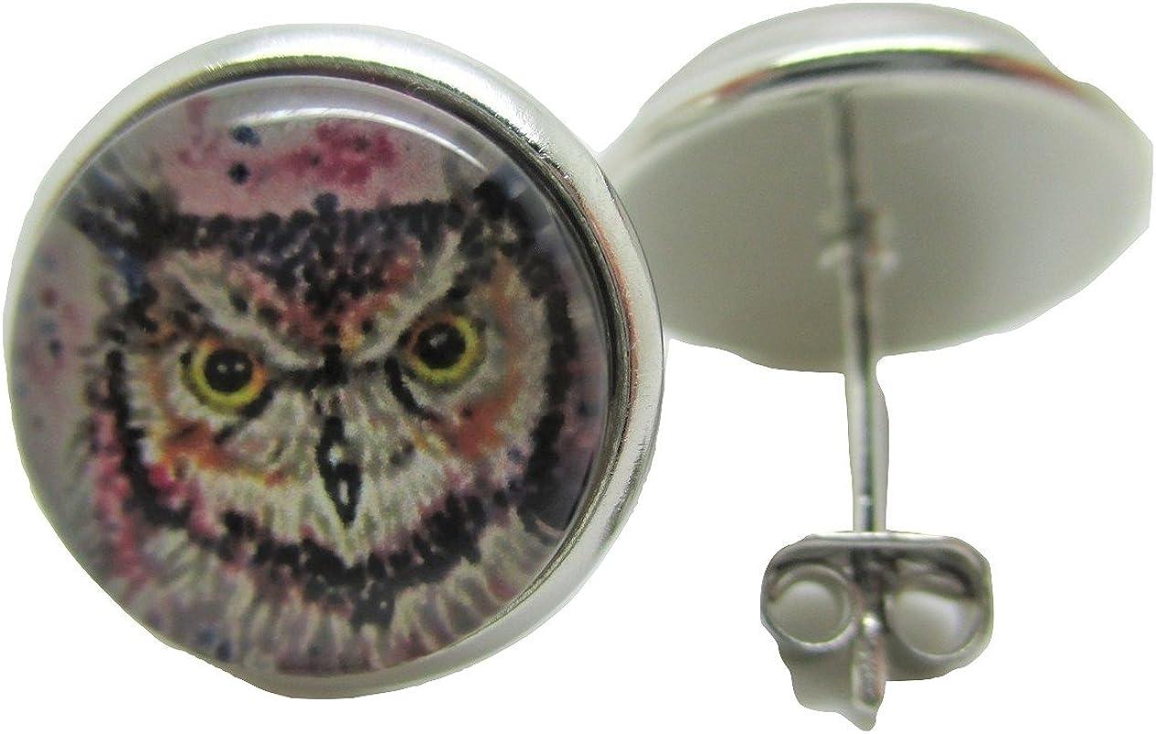 Owl Stud Post Earrings - New - Pair!