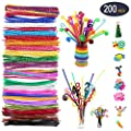 ASOFFI Pipe Cleaners 200pcs Chenille Stems Kids DIY Craft Educational Toys Art Creative Crafts Decorations 20 Colors