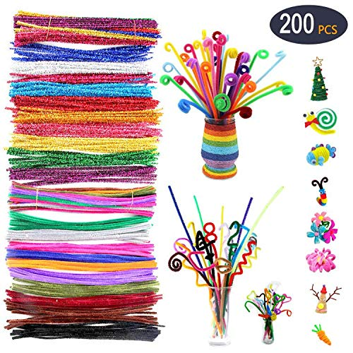 Chenille Stems 20 Colors